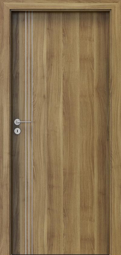 Drzwi wewnętrzne Porta LINE B.1 Okleina Portasynchro 3D *** Akacja Miodowa