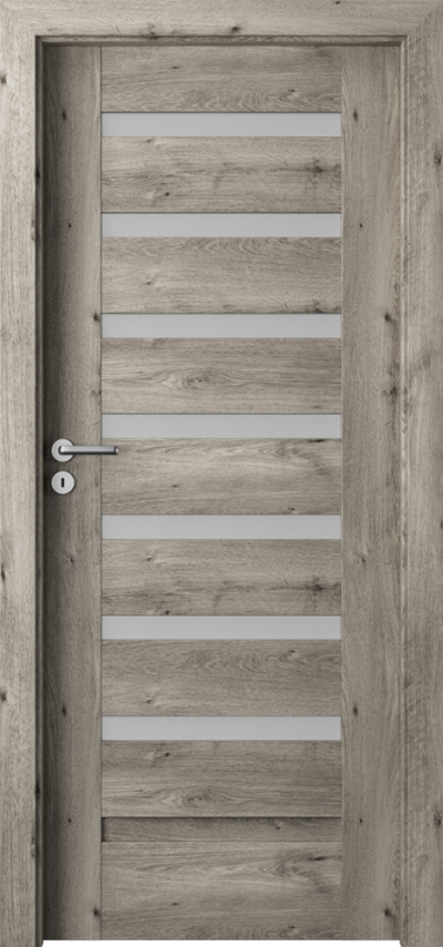 Drzwi wewnętrzne Porta VERTE PREMIUM, D D.7 Okleina Portaperfect 3D **** Dąb Syberyjski