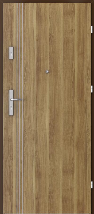 Drzwi wejściowe do mieszkania AGAT Plus intarsje 3