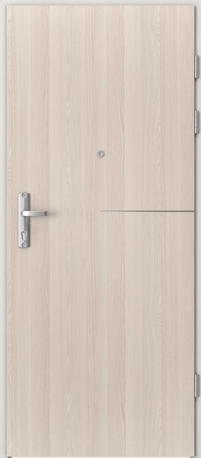 Drzwi wejściowe do mieszkania EXTREME RC3 intarsje 8 Okleina CPL HQ 0,7 ****** Orzech Bielony