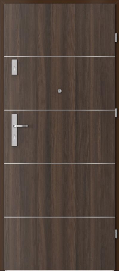 Drzwi wejściowe do mieszkania AGAT Plus intarsje 6 Okleina CPL HQ 0,7 ****** Dąb Milano 5