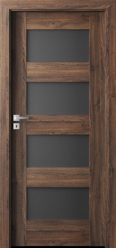 Drzwi wewnętrzne Porta VERTE PREMIUM, A A.4 Okleina Portasynchro 3D *** Dąb Szkarłatny