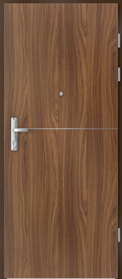 Drzwi wejściowe do mieszkania EXTREME RC3 intarsje 7 Okleina CPL HQ 0,2 ***** Orzech Modena 1
