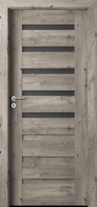 Drzwi wewnętrzne Porta VERTE PREMIUM, D D.5 Okleina Portaperfect 3D **** Dąb Syberyjski