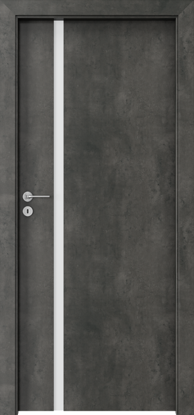 Drzwi wewnętrzne Porta FOCUS 4.A Okleina CPL HQ 0,2 ***** Beton Ciemny