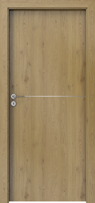 Drzwi wewnętrzne Porta LINE F.1 Okleina Portaperfect 3D **** Dąb Naturalny