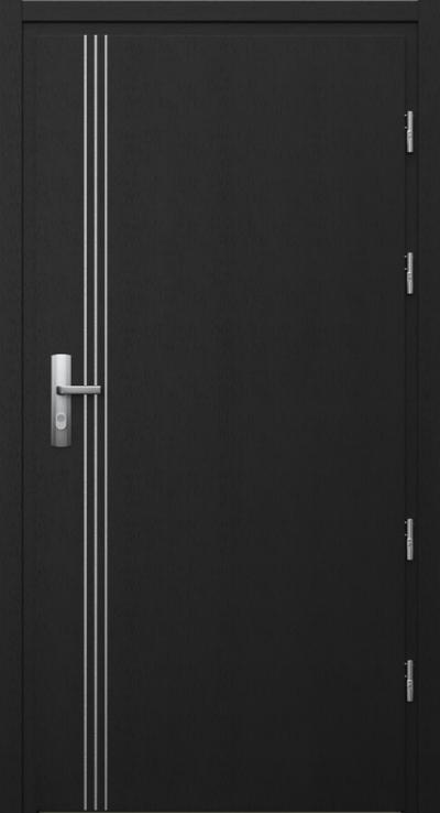 Drzwi techniczne Przeciwpożarowe EI 30 intarsje 3