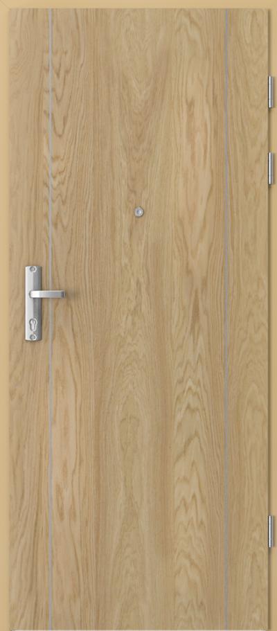 Drzwi wejściowe do mieszkania EXTREME RC3 intarsje 1 Okleina Naturalna Dąb **** Dąb 1
