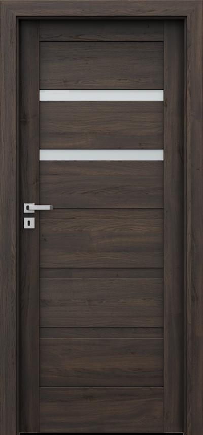 Drzwi wewnętrzne Porta VERTE HOME, H H.2 Okleina Portasynchro 3D *** Dąb Ciemny