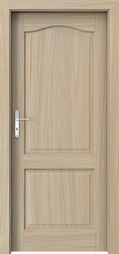 Drzwi wewnętrzne MADRYT pełne Okleina Naturalna Dąb Satin **** Dąb Jasny