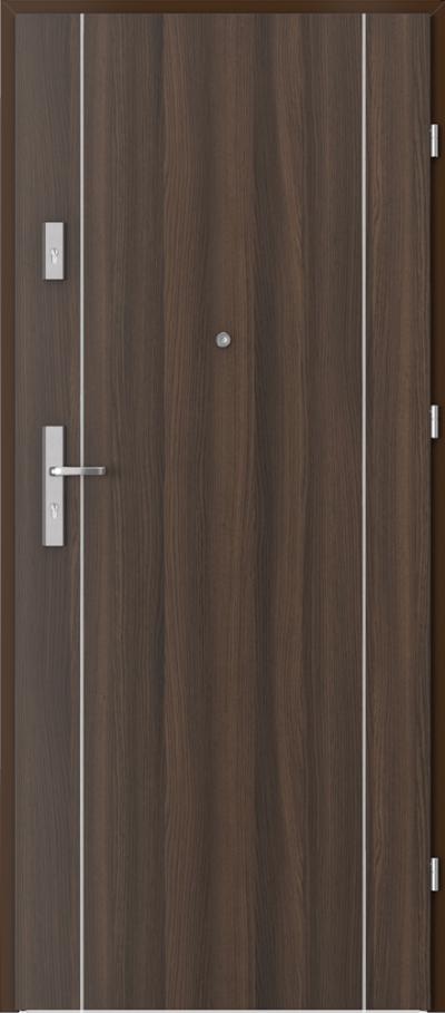 Drzwi wejściowe do mieszkania AGAT Plus intarsje 1 Okleina CPL HQ 0,2 ***** Dąb Milano 5