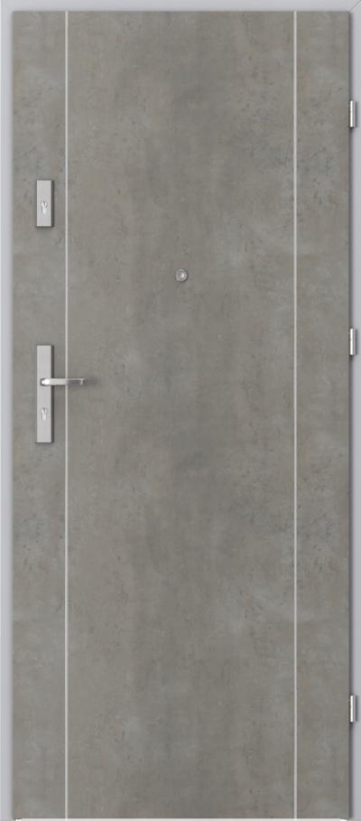 Drzwi wejściowe do mieszkania AGAT Plus intarsje 1 Okleina CPL HQ 0,2 ***** Beton jasny