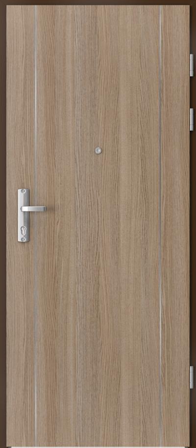 Drzwi wejściowe do mieszkania EXTREME RC3 intarsje 1 Okleina CPL HQ 0,2 ***** Dąb Milano 2