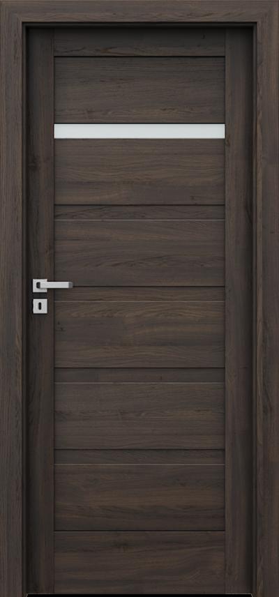 Drzwi wewnętrzne Porta VERTE HOME, H H.1 Okleina Portasynchro 3D *** Dąb Ciemny