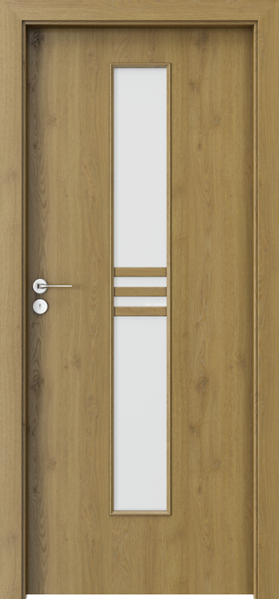 Drzwi wewnętrzne Porta STYL 1 Okleina Portaperfect 3D **** Dąb Naturalny