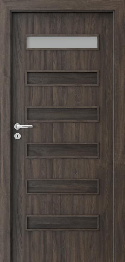 Interior doors Porta FIT F.1 Portasynchro 3D veneer *** Dark Oak