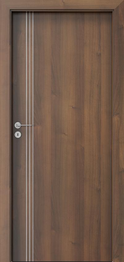 Drzwi wewnętrzne Porta LINE B.1 Okleina Portadecor *** Orzech