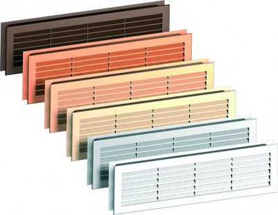 Accessories Ventilation holes Ventilation grille with assembly (various colors) Polyester paint ***** White (RAL 9016)