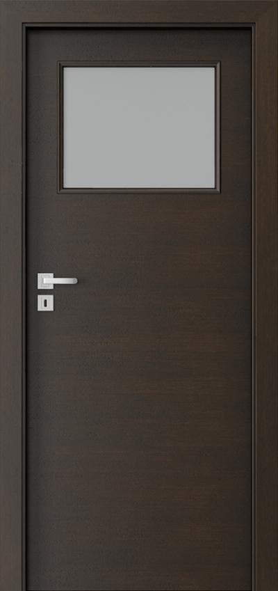 Drzwi wewnętrzne Natura CLASSIC 7.2 Okleina Naturalna Dąb Satin **** Nero