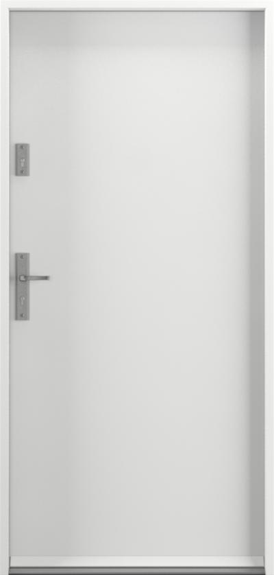 Drzwi wejściowe do domu Steel SAFE RC3 Thermo A0 Farba Poliestrowa ***** Biały Premium RAL 9003