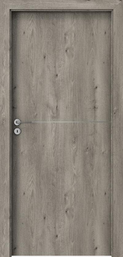Interiérové dveře Porta LINE F.1 Fólie Portaperfect 3D **** Dub Sibiřský