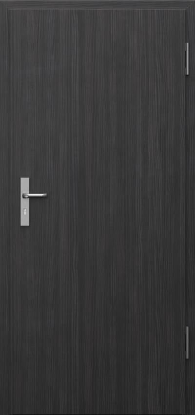 Drzwi techniczne INNOVO 37 dB Płaskie Okleina CPL HQ 0,2 ***** Struktura ciemny