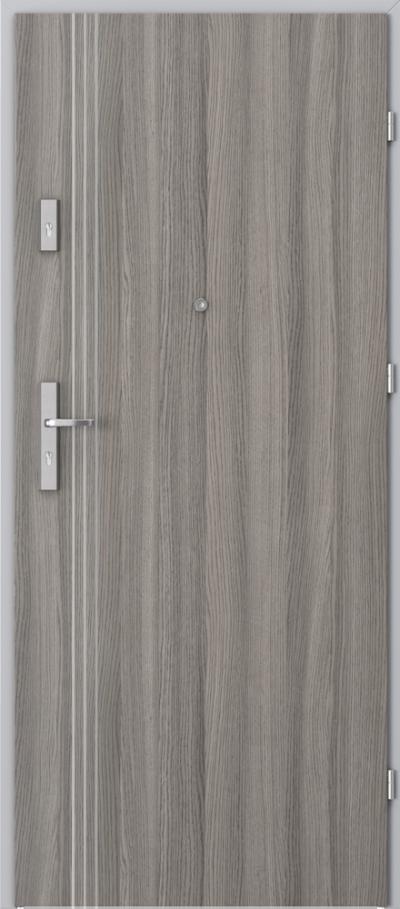 Drzwi wejściowe do mieszkania OPAL Plus intarsje 3