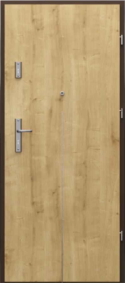 Drzwi wejściowe do mieszkania OPAL Plus intarsje 9