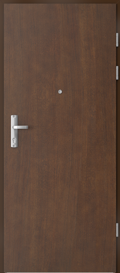 Drzwi wejściowe do mieszkania EXTREME RC3 intarsje 9 Okleina Naturalna Dąb Satin **** Mocca
