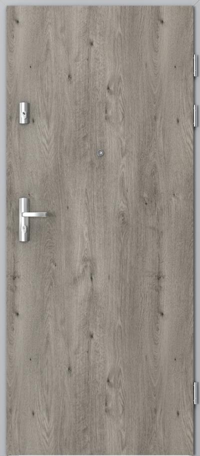 Drzwi wejściowe do mieszkania KWARC pełne Okleina Portaperfect 3D **** Dąb Syberyjski