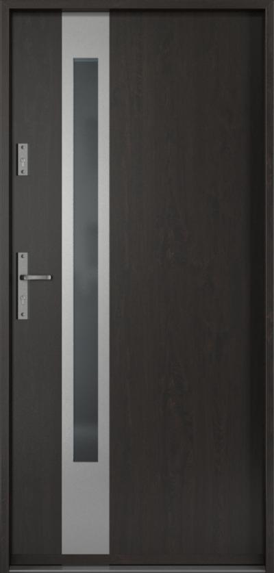 Drzwi wejściowe do domu Steel SAFE RC3 D1 Blacha Stalowa Laminowana PCV ***** Dąb Bagienny