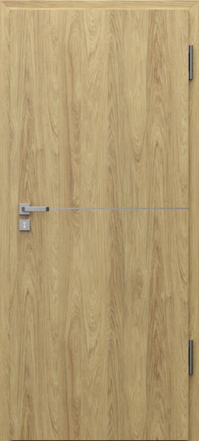 Drzwi techniczne Porta SILENCE intarsje 7 Okleina CPL HQ 0,7 ****** Hikora Naturalna