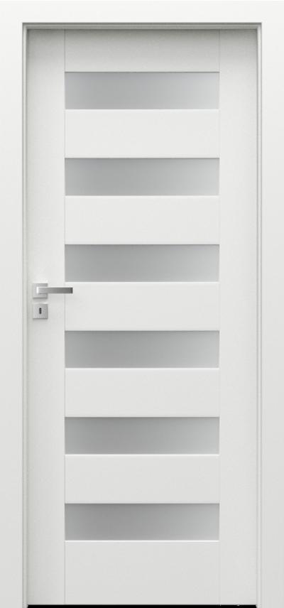 Interiérové dveře Porta KONCEPT  Lak Premium **** Bílá