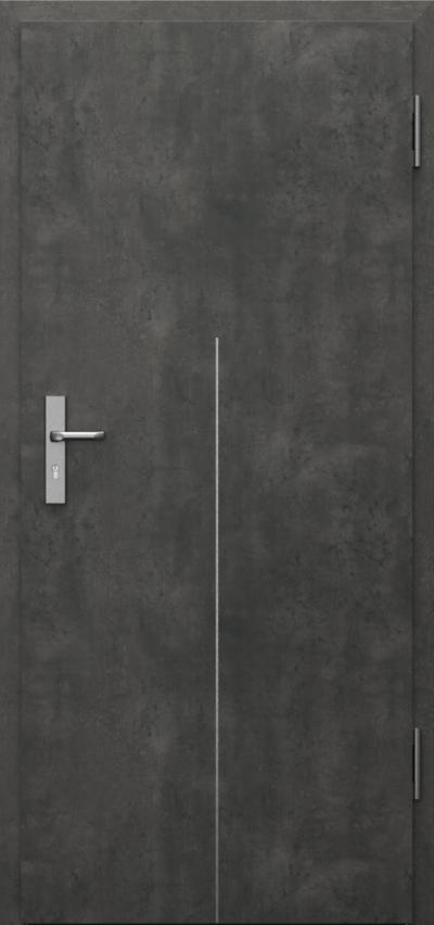 Drzwi techniczne INNOVO 37 dB Intarsje 9 Okleina CPL HQ 0,2 ***** Beton Ciemny