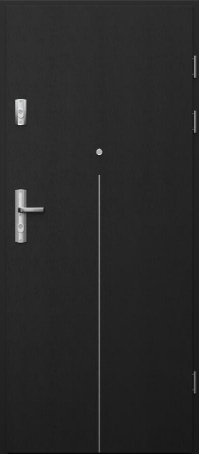 Drzwi wejściowe do mieszkania GRANIT intarsje 9