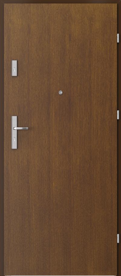 Drzwi wejściowe do mieszkania OPAL Plus pełne Okleina Naturalna Dąb Satin **** Tabacco