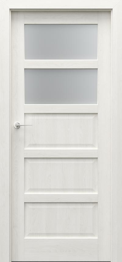 Drzwi wewnętrzne TOLEDO 2 Okleina Naturalna Dąb Satin **** Dąb Biały