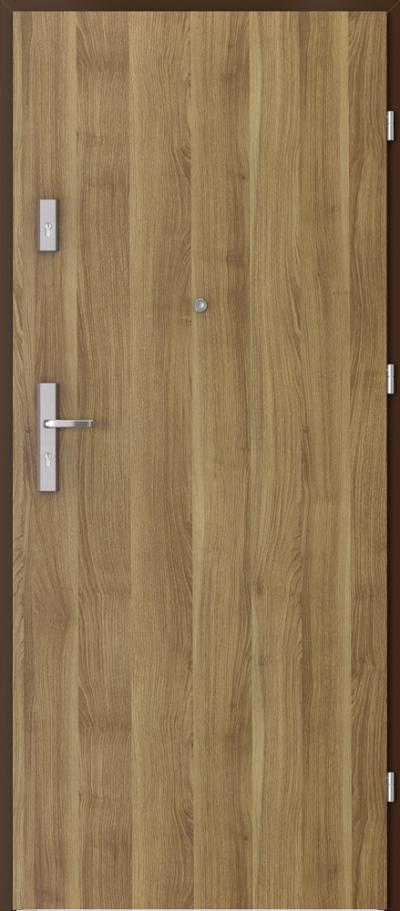 Drzwi wejściowe do mieszkania OPAL Plus pełne Okleina Portasynchro 3D *** Akacja Miodowa