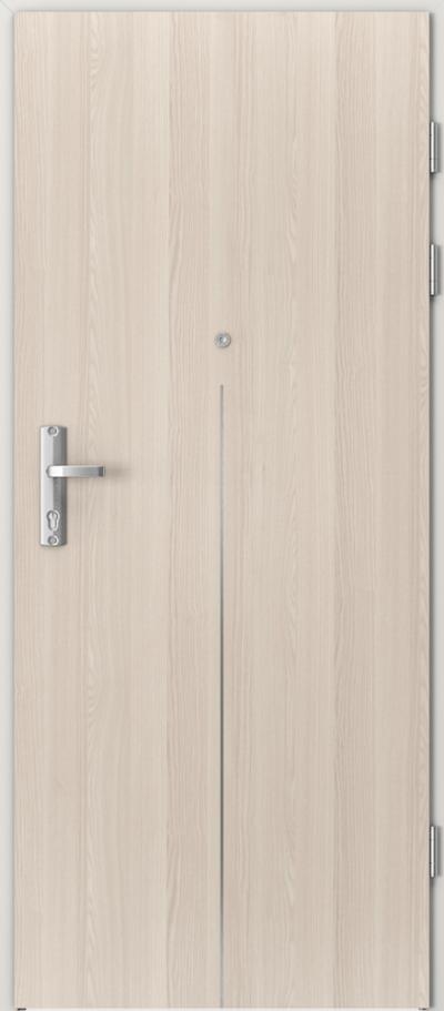 Drzwi wejściowe do mieszkania EXTREME RC3 intarsje 9 Okleina CPL HQ 0,7 ****** Orzech Bielony
