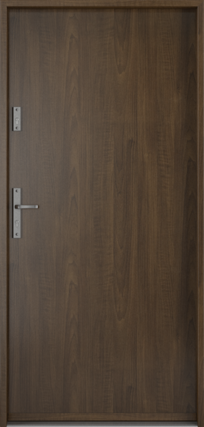 Drzwi wejściowe do domu Steel SAFE RC2 A0 Blacha Stalowa Laminowana PCV ***** Orzech