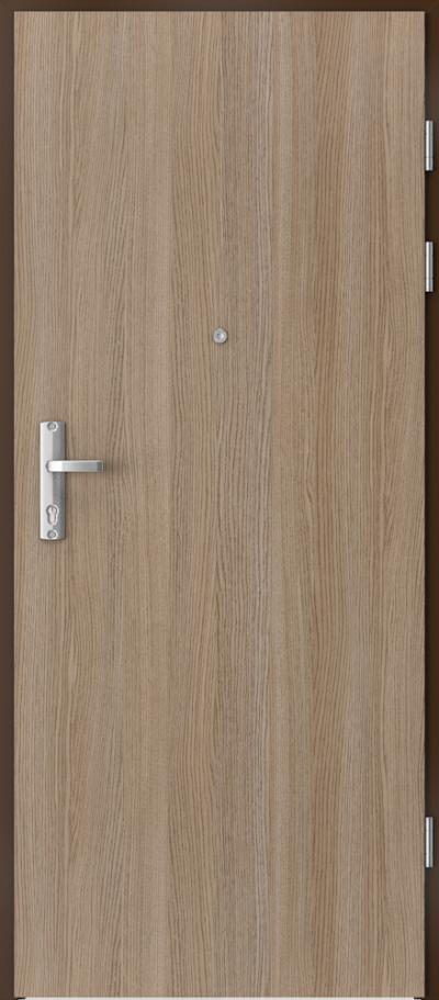 Drzwi wejściowe do mieszkania EXTREME RC3 płaskie Okleina CPL HQ 0,7 ****** Dąb Milano 2