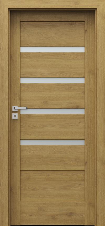 Drzwi wewnętrzne Porta VERTE HOME, H H.4 Okleina Portaperfect 3D **** Dąb Naturalny