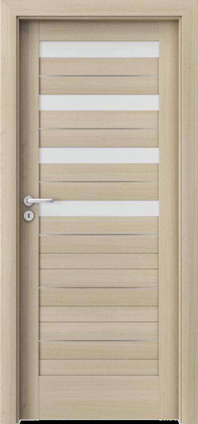 Drzwi wewnętrzne Porta VERTE HOME, D D.4 intarsje Okleina Portaperfect 3D **** Dąb Malibu