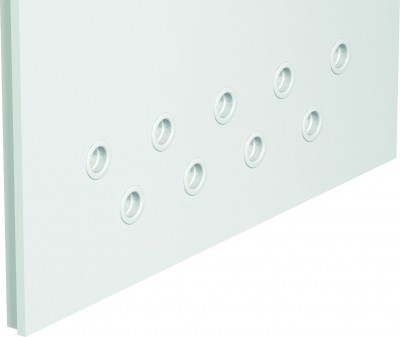 Accessories Ventilation holes II row (various colors) Polyester paint ***** White (RAL 9016)