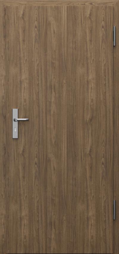 Drzwi techniczne INNOVO 42 dB Płaskie Okleina CPL HQ 0,2 ***** Orzech Naturalny (matowy)