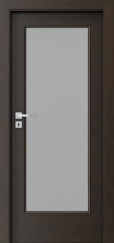 Drzwi wewnętrzne Natura CLASSIC 7.3 Okleina Naturalna Dąb Satin **** Nero