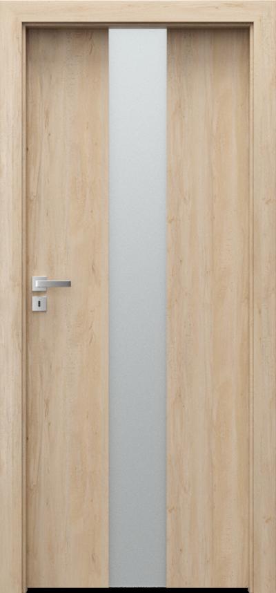 Drzwi wewnętrzne Porta FOCUS 2.0 szyba matowa Okleina Portaperfect 3D **** Buk Skandynawski