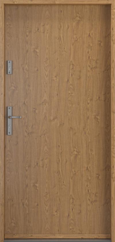 Drzwi wejściowe do domu Steel SAFE RC2 Thermo A0 Blacha Stalowa Laminowana PCV ***** Dąb Winchester