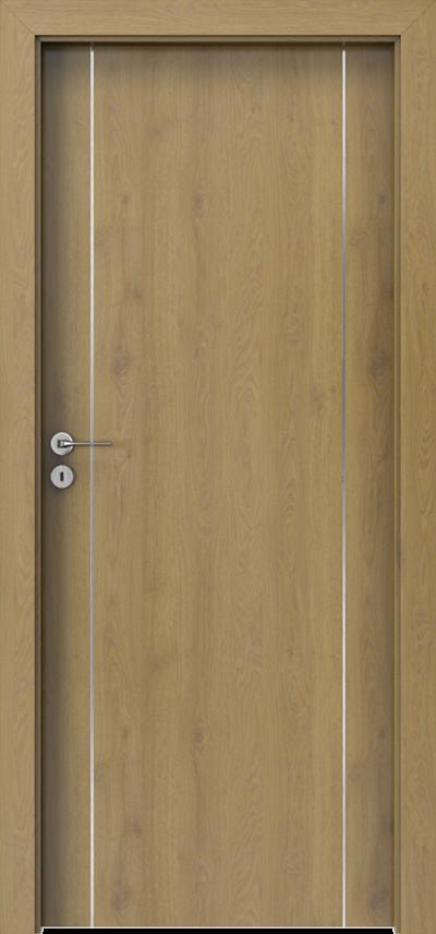 Drzwi wewnętrzne Porta LINE A.1 Okleina CPL HQ 0,2 ***** Dąb Naturalny