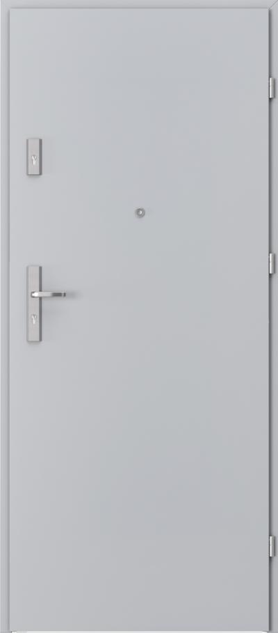 Drzwi wejściowe do mieszkania OPAL Plus pełne Okleina CPL HQ 0,2 ***** Popielaty Euroinvest